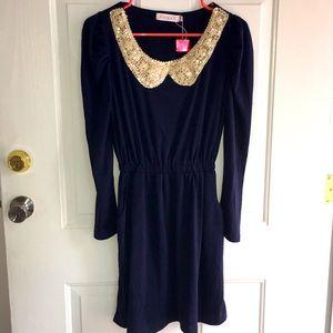 New Women's Allegra K Navy Stretchy Soft Dress XS